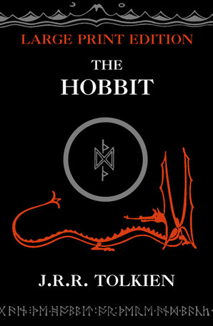 The Hobbit Hardcover Large type edition by J. R. R. Tolkien